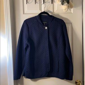 Isaac Mizrahi- navy quilted  jacket/blazer size: M